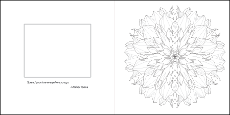 52 Flower Mandalas double-page spread