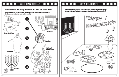 Hanukkah Coloring & Activity Book: Who Can Retell? and Let's Celebrate