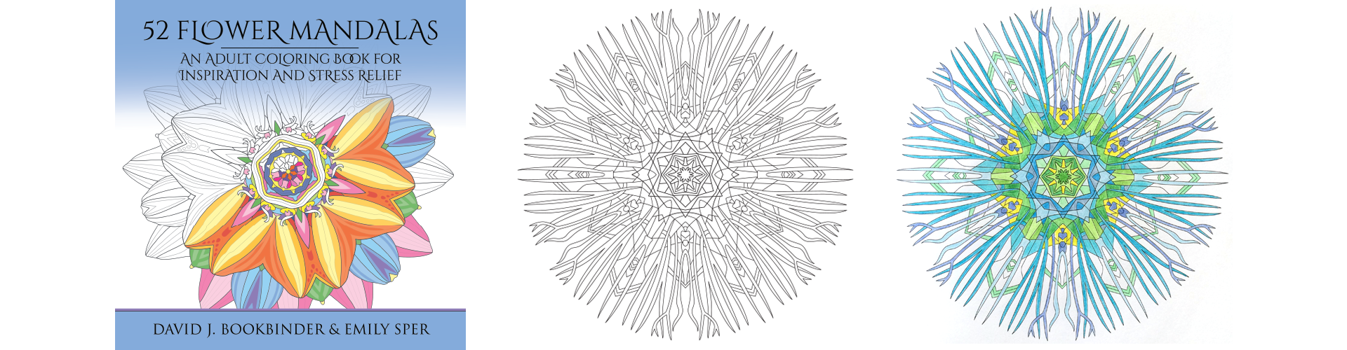 52 Flower Mandalas: An Adult Coloring Book for Inspiration and Stress Relief